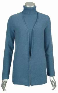 Sutton Studio Womens Cashmere Cardigan & Shell Twinset