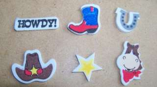 24 Wild West Shape Foam Sticker Kids Craft Horse VBS