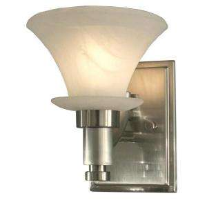 Hampton Bay Flair Collection 1 Light Brushed Nickel Wall Sconce 05655