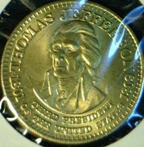 Thomas Jefferson MINT Commemorative Bronze Medal   Token   Coin