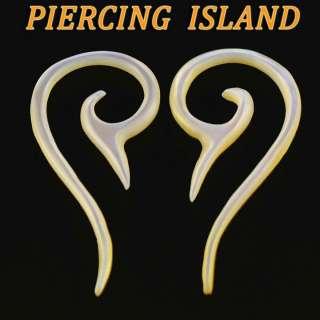 2mm Paar Muschel Perlmutt Ohrringe Tunnel Ohr Ear Piercing 253