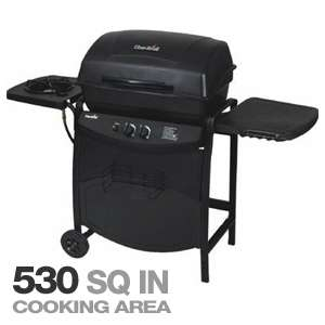 Char Broil 463720110 Grill with Sideburner   2 Burners, 530 Total