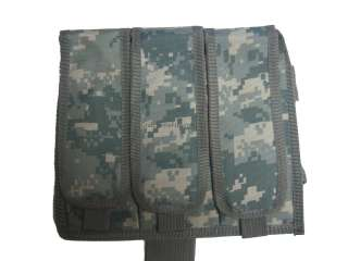 Leg Triple Magazine Pouch for Airsoft Gun Clips ~ Fits Most AEG Mags