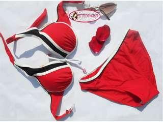New Padded Cute Sporty Bikini set Swimwear Swimsuit Red Blue S M L