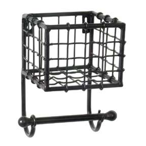 Set Of 2 Wrought Iron Wall Baskets Planters Pot Plant Holders on paper towel holders