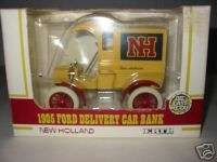 ERTL 1905 FORD DELIVERY CAR BANK NEW HOLLAND
