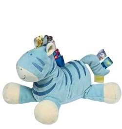 12 Taggies Blue Zebra Plush Toy Lovey Stuffed Animal Toy by Mary