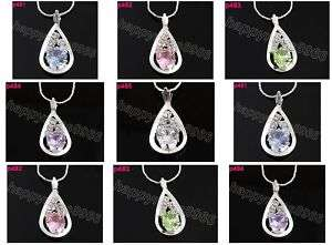 5p nice Crystal Gutta Charm pendant necklace p481 485