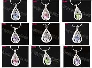 5p nice Crystal Gutta Charm pendant necklace p481 485