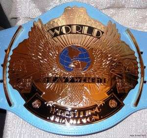 WWE WWF Classic WINGED EAGLE Blue Strap Championship BELT