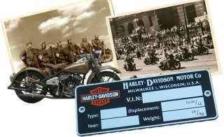Typenschild für Harley Davidson Schild Plate data FARBE logo ELECTRA