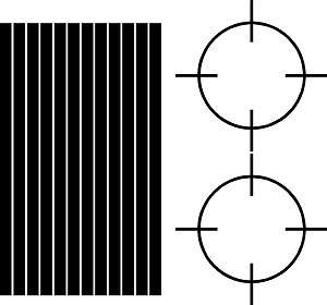 Oak tree camo cross hair cornhole stripes & circles decal
