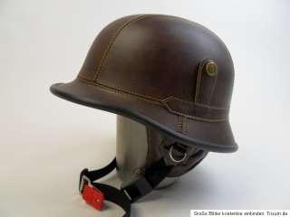 KRADMELDER STAHLHELM WWII HARLEY CUSTOM BIKE RETRO LEDER GR .L