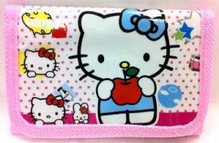 New Girls Pink Hello Kitty Trifold Wallet LOW SHIPPING