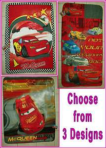 Disney CARS LIGHTNING McQUEEN Polar Fleece BLANKET Throw Rug (Choose