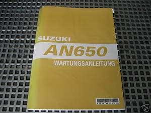 WERKSTATTHANDBUCH Suzuki AN 650 Burgman deutsch NEU&OVP