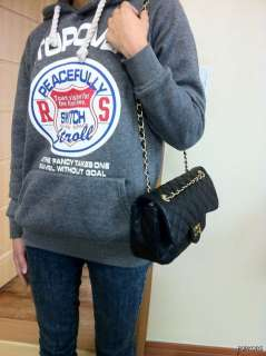 NEW Black Quilted Gold Chain 2.55 Medium Handbags Shoulder Crossbody