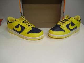 New Nike Dunk Low VNTG Vintage Varsity Maize Yellow Midnight Navy 11.5