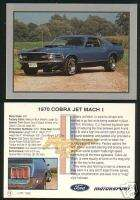 1970 70 FORD MUSTANG COBRA JET MACH 1 Car Fact Card FPI