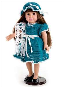 Crochet Clothing DRESS Patterns 18Doll CLOTHES Dresses