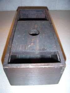 ANTIQUE SOLID WOOD SECRET VOTING VOTE BOX WITH MARBLES