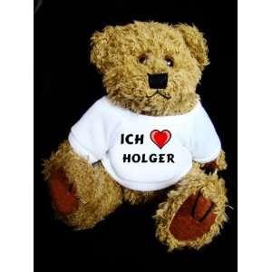 Teddy Bear mit Ich liebe Holger t shirt  Spielzeug