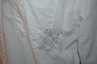 English Laundry LONG SLEEVE WHITE BUTTON DOWN 100% COTTON FLORAL SHIRT