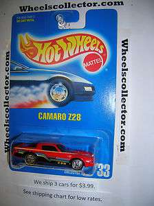 Hot Wheels Blue Card #33 * CAMARO Z28 red