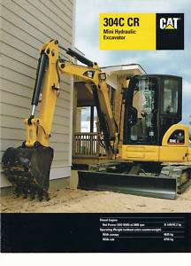 Caterpillar 304C CR Mini Excavator brochure 2006