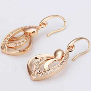 Christmas gifts 18K Gold Plated Swarovski crystal Earrings E033