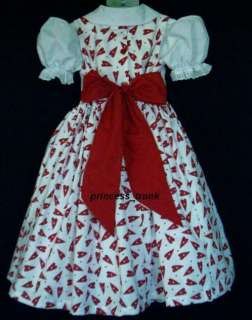Kingdom Valentines Hearts w/Stars Dress Custom Sz 12M 10Yrs