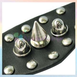 Gothic Emo Rock Steampunk Leather Finger Ring Black