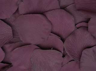 100 QUALITY THICK PLUM SILK ROSE PETALS WEDDING TABLE DECORATIONS