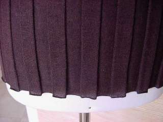 JIL SANDER Top Cashmere Silk Wool chocolate brown 6 NEW