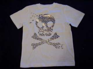 NWT Boys Gymboree Deep Sea Adventure white short sleeve skull shirt