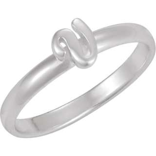 Sterling Silver .925 Letter Sizes 6 9 Stackable Initial Ring Thin Band