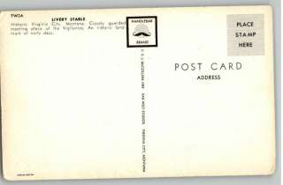 Postcard Livery StableVirginia City,Montana/MT