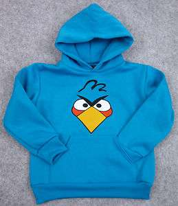 ANGRY BIRDS Hooded Sweatshirt Blue Angry Bird Hoody Childrens Hoodie