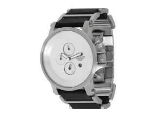 NEW VESTAL PLEXI WATCH Silver / Stainless Steel / Black Leather