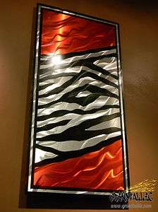 Zebra Print  Grindtallic Metal Wall Art   All COLORS Available