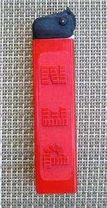 VINTAGE PEZ REGULAR   AUSTRIA   RED / BLACK CAP *