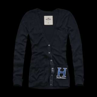 NEW HOLLISTER ABERCROMBIE WOMENS PREPPY SWEATER CARDIGAN JUMPER S