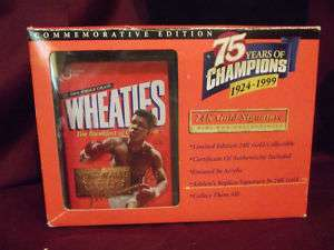 Wheaties Limited Edition Mohammed Ali / gold signature