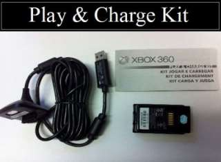 Official Microsoft Play and Charge Kit for Xbox 360 Controller Black