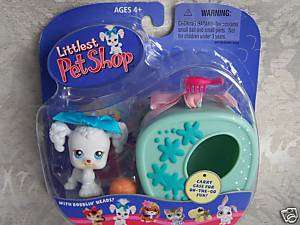 Littlest Pet Shop POODLE w/CASE #17 NIB Retired NEW 04