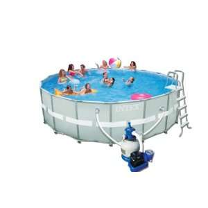 Intex 12 54956 Ultra Rondo II Frame Pool Set, 549 x 132 cm
