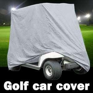 Passengers Seat Golf Cart Cover Silver Fit EZ Go Club Car WaterProof