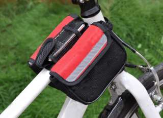Bicycle Bike Frame Pannier Rack Front Tube Bag Ddv