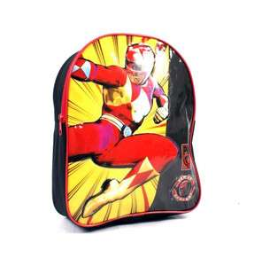 BOYS POWER RANGERS RUCKSACK / BACKPACK / SCHOOL BAG   RED & BLACK