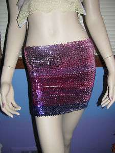 FREE PEOPLE Convertible SEQUIN TUBE TOP SKIRT XS S M L